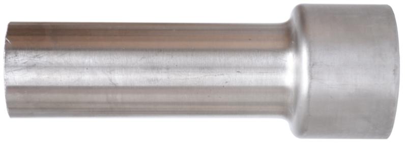 Auspuffrohr von 45 auf 63,5 mm geweitet
