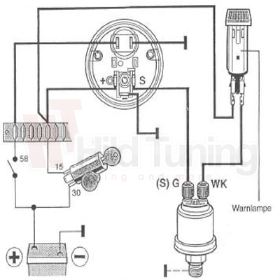 Einbauanleitung für VDO Öldruckanzeige