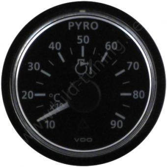 VDO Viewline Abgastemperaturanzeige schwarz 100 - 900 Grad