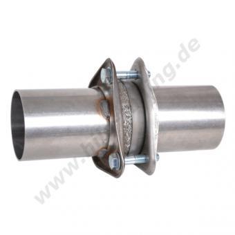 Edelstahl Auspuff Flanschverbinder 76 mm