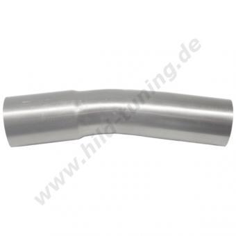 Edelstahl Auspuff Rohrbogen 15 Grad 48 mm mit Muffe