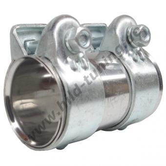 Auspuff Rohrverbinder - Auspuff Doppelschelle 48 x 90 mm - Edelstahl - Schellen verzinkt