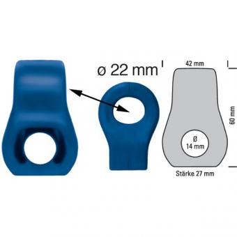 Silikon Auspuffgummi verstärkt Variante 15