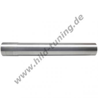 Edelstahl Auspuffrohr 55 mm 1000 | mit Muffe