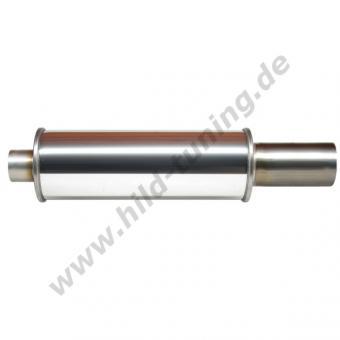 Edelstahl Universal Endschalldämpfer 60 mm rund