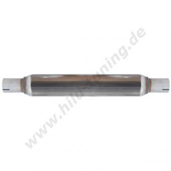 Edelstahl Universal Schalldämpfer 45 mm rund 76 x 400 mm