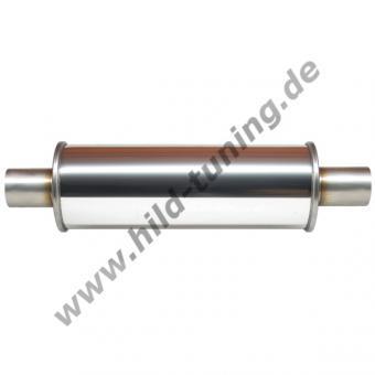 Edelstahl Universal Schalldämpfer 76 mm rund 125 x 250 mm