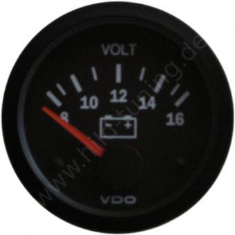 VDO Cockpit Vision Voltmeter 8 - 16 Volt