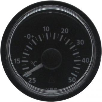 VDO Viewline Aussentemperaturanzeige -25 - 50 Grad schwarz