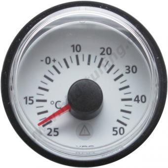 VDO Viewline Aussentemperaturanzeige -25 - 50 Grad weiß