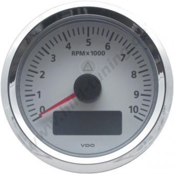 VDO Viewline Drehzahlmesser weiß 85 mm mit LCD