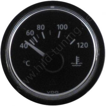 VDO Viewline Kühlwassertemperaturanzeige 40 - 120 Grad schwarz