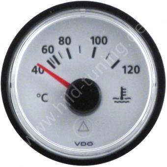VDO Viewline Kühlwassertemperaturanzeige 40 - 120 Grad weiß