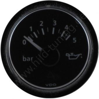 VDO Viewline Öldruckanzeige 5 Bar Schwarz