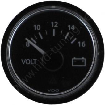 VDO Viewline Voltmeter 8 - 16 Volt schwarz