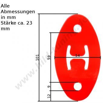 Polyurethan Auspuffgummi verstärkt Variante 18