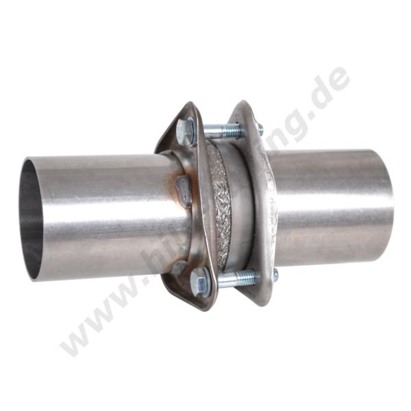 Universal Auspuff Rohrverbinder mit Doppelschelle Stahl Edelstahl diverse Größen